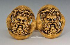 Vintage Gold & Diamond Cufflinks   Antique Cufflinks