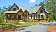 Mountain Lodge with Views - 15686GE | Craftsman, Mountain, Traditional, Vacation, Luxury, Photo Gallery, Premium Collection, 1st Floor Master Suite, Butler Walk-in Pantry, CAD Available, PDF, Split Bedrooms, Corner Lot | Architectural Designs
