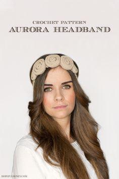 7527834f07f Crochet Rose Headband Pattern