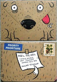 Pet Packaging Envelope Design Dog Illustration Branding
