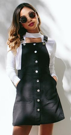 #winter #outfits White Top // Black Dress