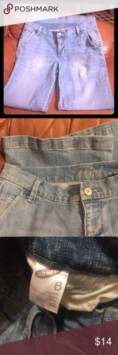 """Old navy """"The Flirt"""" blue jeans Regular blue jeans with boot cut. Mid rise. Waist 30, inseam - 30. Used in good condition Old Navy Jeans Boot Cut"""