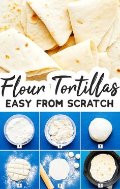 The BEST Homemade Flour Tortillas (Without Lard) Who knew making homemade flour tortillas could be so easy? You just need 5 simple ingredients to make tender, delicious flour tortillas at home! A quick bread recipes your family will love on taco night. Quick Bread Recipes, Beef Recipes, Vegetarian Recipes, Cooking Recipes, Cooking Tips, Recipies, Spinach Recipes, Mexican Rice Recipes, Homemade Flour Tortillas
