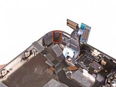 STAP 1. Verwijder de kleine stukjes zwarte tape op bevestiginglipjes van het scherm
