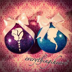 Disney Frozen inspired Anna and Elsa ornaments by everythingiheart