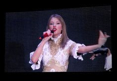 "Taylor Swift performs live via satellite from Australia on ""The GRAMMY Nominations Live!! — Countdown To Music's Biggest Night"" on Dec. 6 in Los Angeles"