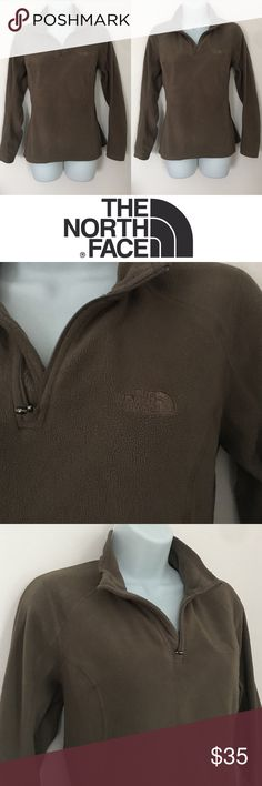 | North Face | Quarter Zip Polartec Sweater Excellent condition. No noticeable flaws. Super warm and cozy. Made from 100% polyester. Tight fit. North Face Tops Sweatshirts & Hoodies