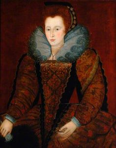 Portrait of an Unknown Lady Holding a Fan and a Flower  (possibly Elizabeth I), unknown artist, c.1590  York Museums Trust