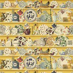 British  Wallpapers - Emma Bridgewater The Dresser Fabric Lion Yellow/Multi DEMB223456, £50.00 (http://www.britishwallpapers.co.uk/emma-bridgewater-the-dresser-fabric-lion-yellow-multi-demb223456/)