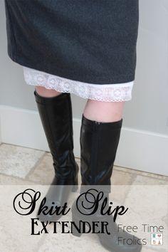 Free Time Frolics: Skirt Extender DIY