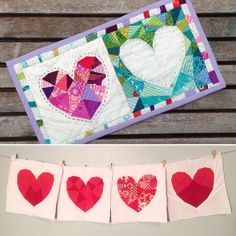 (7) Name: 'Quilting : Love Story Paper Piecing Pattern - PDF