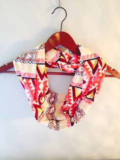 Jersey Infinity Scarf in Red and Yellow by LilyAlyssaBoutique, $19.00