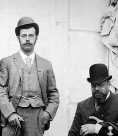 Nicholas II with his father Alexander III