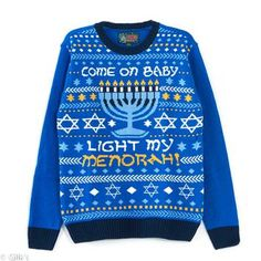 Unisex Ugly Christmas Sweater Menorah 5040BMG2