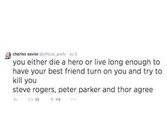 A tweet from Professor X (I though it was Walking Dead at first, Rick and Shane)