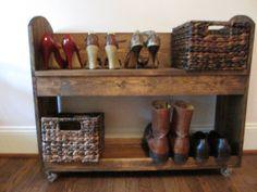 rustic shoe rack! Love this