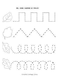 La maestra Linda : Le foglie in Autunno Preschool Writing, Fall Preschool, Homeschool Kindergarten, Preschool Learning Activities, Preschool Lessons, Preschool Classroom, Kindergarten Worksheets, Toddler Activities, Preschool Activities