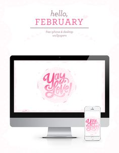 Celebrate February with this free desktop and phone wallpaper.
