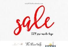 $29 pre-made logo design only until 8/31 - photography logo boutique logo website logo blog