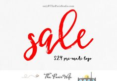 $29 pre-made logo design only until 8/31 - photography logo boutique logo website logo blog