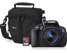 Canon Eos 700D + EF-S 18-55/3.5-5.6 IS STM + 16GB + Väska