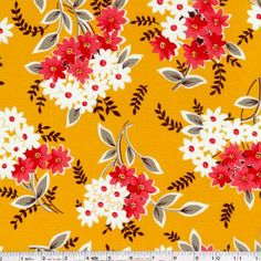 Revisit Denyse Schmidt's most popular fabric collection ever! Flea Market Fancy is back and ready to be stitched up into your favorite vintage-inspired goodies. This large scale floral print features bouquets in inspired colorways. This quilting weight fabric is 100% cotton and is 44