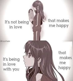 Ya duh y would u be happy about just loving u can love any one but there is 1 u give a special love^^^