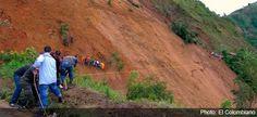Deslizamiento de tierras en Colombia