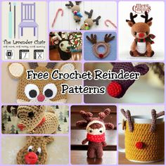 These crochet reindeer are nothing short of perfect for the holidays. Whether you're making an amigurumi or an ornament, find all of the free patterns here.