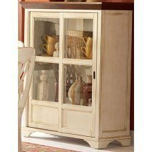 Ohana Curio Cabinet Finish: Antique White by Woodbridge Home Designs. $608.55. Belongs to Ohana Collection. Solid wood table top with butterfly leaf. Unique chair back supported by turned legs. Casual country home. Antique white and warm cherry finish. 1393W-50 Finish: Antique White Features: -Design captures the essence of a casual country home.-Striking 2 toned appearance.-Butterfly leaf and unique chair back sup-ported by turned legs complement. Color/Finish: -Group is...