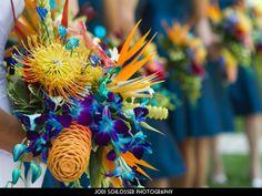 tropical wedding colors- Maybe Slightly brighter! Blue Orchid Bouquet, Blue Orchid Wedding, Tropical Wedding Bouquets, Blue Orchids, Flower Bouquet Wedding, Bridal Bouquets, Tropical Weddings, Tiffany Blue Weddings, Maui Weddings