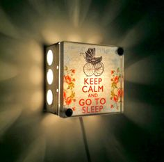 Keep Calm and Go to Sleep Night Light