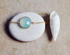 Wedding Jewelry Sea Foam Green mint qaua by YUNILIsmiles on Etsy