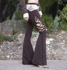 Stained Glass Teardrop Dance Pants in Brown by ElvenForest