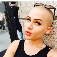 And this woman, whose buzz cut offsets her fierce attitude. | 21 Gorgeous Women…