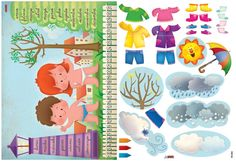 EDIBA.com Ideas Para, Vocabulary, Activities For Kids, Doll Clothes, Diy And Crafts, Seasons, Dolls, School, Poster