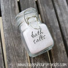 Happy Hour Projects: Homemade Bath Salts