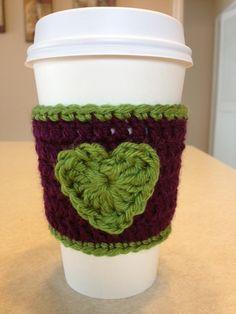 Crochet Coffee Cozy Coffee Sleeve by lakesidecreations1 on Etsy, $7.50