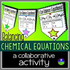 Balancing chemical equations lesson middle school