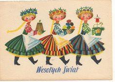 Vintage Polish Easter card