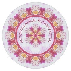 #floral - #Personalize Event Name - Purple Orchid Photography Round Paper Coaster