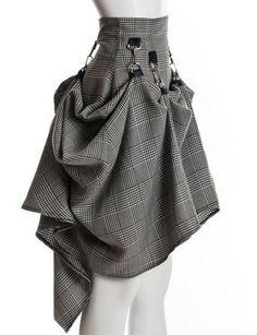 Gray Black Steam Punk Skirt | Long Skirt Skirt | skirt steampunk victorian party plaid | Chic | UsTrendy ($100-200) - Svpply