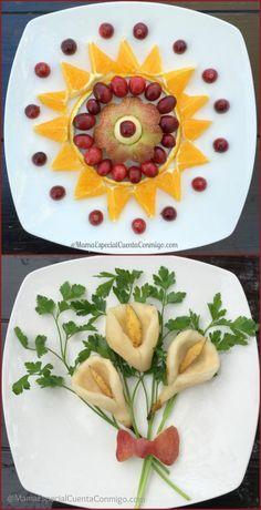 Frutas en una presentación original y elegante
