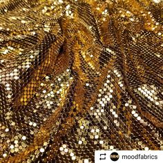 I love mood fabrics! And what's better than gold fabric!  #Repost @moodfabrics with @instatoolsapp  Are you already planning projects for our brand new Mood exclusive chain mail? Find this gold on moodfabrics.com with item #321291!  #fabric #fabricshopping #moodfabrics #mood #fashion #instafashion #lovetosew #sewing #fashiondesign #winter #spring #inspiration #trends #highfashion #luxury #garmentdistrict #designer #runway #style #chainmail #cosplay #costume