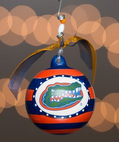 Look at this Florida Gators Stripe Ornament on #zulily today!