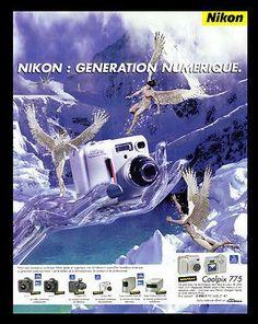 Nikon Coolpix 775 AD 2001 French Text Camera Ad Fantasy Robotic Advertising Art
