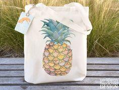 Pineapple Fair Trade Tote Bag Reusable Shopper Bag Farmers Market Bag Cotton Tote Shopping Bag Eco Tote Bag Reusable Grocery Bag by ceridwenDESIGN http://ift.tt/1SkZ3tP