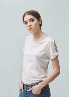 T-shirt coton modal | MANGO