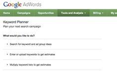 Using The New Adwords Keyword Planner For Local SEO Keyword Research