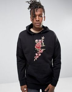 Jaded London Oversized Hoodie With Floral Print